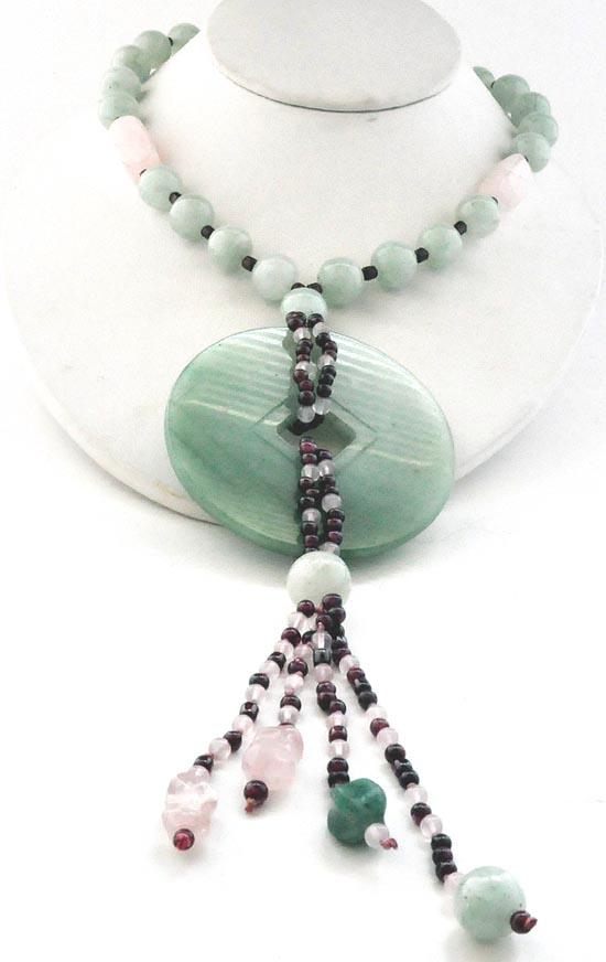 Beautiful Antique Chinese Rose Quartz Beaded Necklace 16 inches